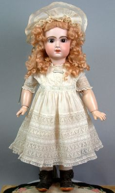 "Sublime Classic 23"" French Jumeau Antique French Doll Size 10 Starts at $1 NoRes 