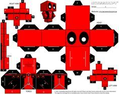 Deadpool cube art template