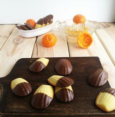 Chocolate Orange Madeleines . teatime .