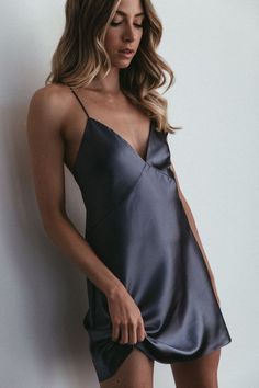 Australian bridal brand Grace Loves Lace launched the Silky Satin bridesmaid dress collection—an edit of simple slip dresses designed to be worn beyond the wedding. Cute Comfy Outfits, Cool Outfits, Fashion Outfits, Jolie Lingerie, Women Lingerie, Lace Bridesmaid Dresses, Satin Dresses, Wedding Dresses, Pajama Outfits