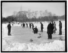 Curling in Central Park, New York, 1900-1906, Detroit Publishing Co.; Library of Congress  Prints and  Photographs Division Washington, D.C