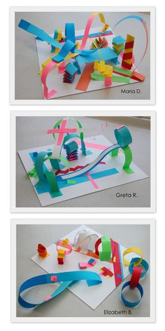 paper sculpture The New Hope Art Gallery: Inspired by the Masters - Abstract Paper Sculptures Art Sculpture, Abstract Sculpture, Paper Sculptures, Paper Crafts For Kids, Projects For Kids, Art Projects, Art Espoir, Arte Elemental, Hope Art