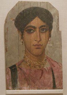 Faiyum Portrait of a Woman, late 3rd-4th Century - Roman  (Virginia Museum of Fine Arts, Richmond VA)