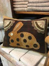 Wool Felt Applique Pillow
