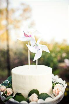 Pinwheels, cake topper