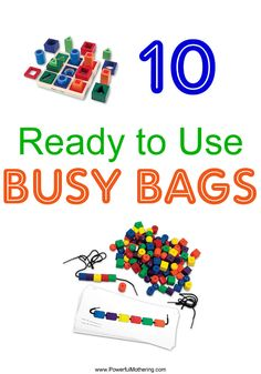 10 Ready to Use Items for Busy Bags
