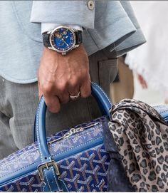 Watchanish x maison goyard bag watch style menswear nice pie Mens Fashion Blog, Best Mens Fashion, Fashion Tips, Men's Fashion, Men Accesories, Fashion Accessories, Piercings, Goyard Bag, Men Closet