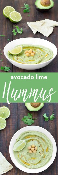 This avocado lime hummus is creamy nutritious flavorful super simple to whip up and incredibly yummy! Serve it with tortilla chips pita chips whole wheat pita bread crackers vegetables or use it as a spread on sandwiches.