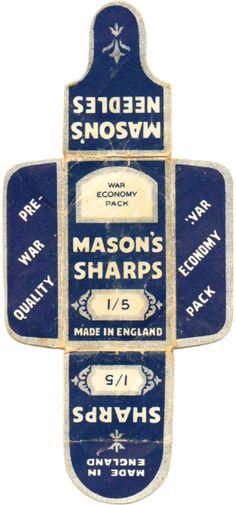 Free printable vintage sewing packaging