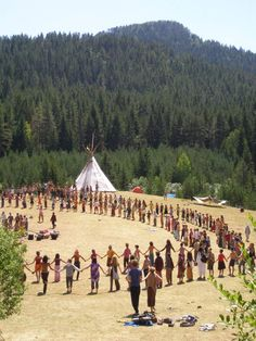 The energy in this Prayer for Peace circle on July 4th @ a Rainbow Gathering can't be described ....can only be lived & remembered!