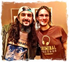 Mike Portnoy and Steven Wilson after Steven's concert in Philly!!!