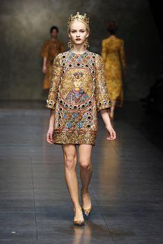 Dolce & Gabbana A/W 2013-14 Byzantine Mosaics