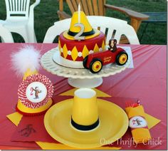 Curious George Party; tons of fun details for decorations, favors, cake, outfits, etc.  via One Thrifty Chick