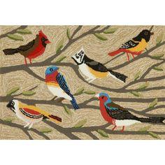 Birds on Branches Indoor/Outdoor Rug | Sturbridge Yankee Workshop