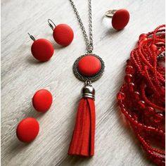 Tengerész piros szett 21st, Pendant Necklace, Drop Earrings, Instagram Posts, Jewelry, Jewlery, Bijoux, Schmuck, Drop Earring