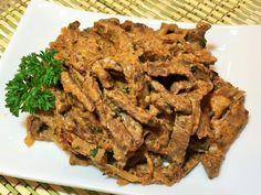 Вкуснейший бефстроганов из говядины со сметаной
