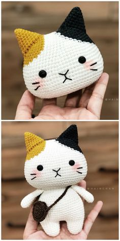 Crochet Cat Pattern, Crochet Patterns Amigurumi, Crochet Dolls, Crochet Cat Toys, Kawaii Crochet, Cute Crochet, Crochet Baby, Diy Crochet Projects, Crochet Crafts