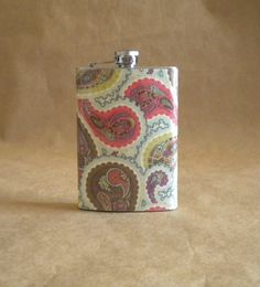 paisley flask!!!!! we must have this for pre wedding fun/jitters:)