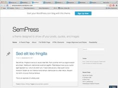 WordPress Theme: SemPress