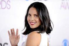 More Pics of Olivia Munn Medium Wavy Cut (10 of 15) - Shoulder Length Hairstyles Lookbook - StyleBistro