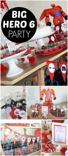 You have to check out this awesome Big Hero 6 party! See more party ideas at CatchMyParty.com!
