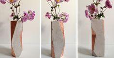 Vasen - Betonvase Kupfer- geometrisch - ein Designerstück von m_hoch3 bei DaWanda