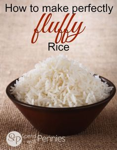 How to make perfectly fluffy rice every time! How to make perfectly fluffy rice every time! White Rice Recipes, Easy Rice Recipes, Side Dish Recipes, Asian Recipes, Jasmine Rice Recipes, Simple Recipes, Dinner Recipes, Rice Dishes, Food Dishes