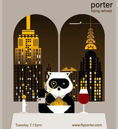 Porter Airlines, Vintage Travel Posters, Typography Design, Aviation, Branding, Canada, Ads, Creative, Cute