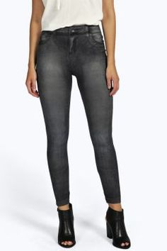 Taylor Denum Look Leggings at boohoo.com