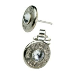 Classy, Dainty .357 Magnum Nickel Bullet Head Earrings Bullet Designs. Save 14 Off!. $29.95. Unusual!. Quick Ship!. Free Gift Box!. Eco Friendly!. Unique!