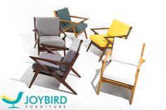 The Soto chairs decided to have a party. All colors are invited  Who wants to join? http://joybird.com/chairs/soto-chair/