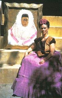 Self Portrait as a Tehuana, Autorretrato como Tehuana, Frida Kahlo,