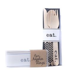 Napkin rings to bundle your utensils in style -the perfect finishing touch for any gathering!