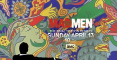 "Trippy tapestries and psychedelic designs by Atlanta-based animators Primal Screen evoke a flavor of the in the new trailer for AMC's ""Mad Men. Mad Men, Milton Glaser, 70s Artists, Bob Dylan Poster, Trippy Tapestry, Man Projects, I Love Ny, Popular Art, High Art"