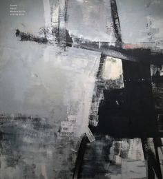 """Large Monochromatic Oil on Canvas - Trestle 58 x 52""""    See more Abstract Paintings at https://www.1stdibs.com/art/paintings/abstract-paintings on 1stdibs"""