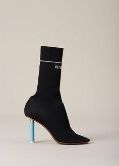 VETEMENTS Black Sock Boot