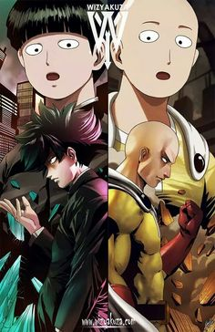 One Punch Man and Mob Pyscho 100