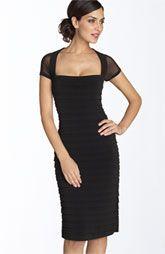 Maggy London Illusion Back Pleated Matte Jersey Dress (Regular & Petite)