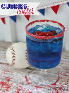 Calling all Chicago Cubs fans! This Cubbies Cooler is the perfect cocktail for cheering your team into victory.