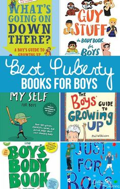 Teaching our kids about Puberty can be equally awkward and important! We need to teach our kids all about puberty but feeling uncomfortable doesn't help us or our kids. These books can help! #puberty #preteenboys #booksforpreteens #sexed