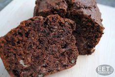 Bananen chocoladecake, lekker alleen zoeter maken voor mensen die wel suiker eten