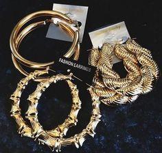 90's gold hoop earrings - Google Search