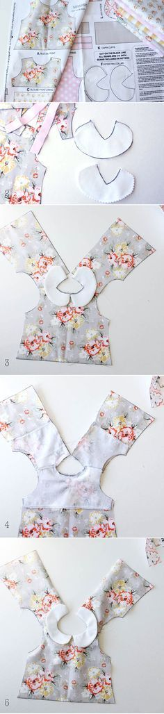 Pattern panels printed directly on the fabric: Riley Blake Doll Clothes Tutorial