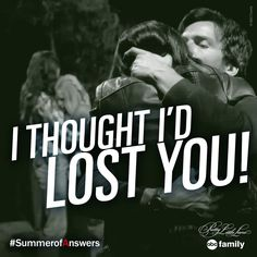 """I thought I'd lost you."" #PLL #SummerOfAnswers"
