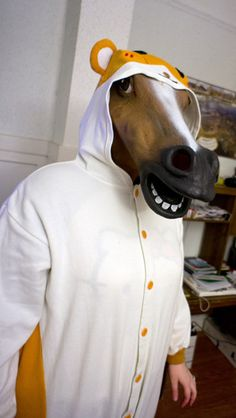 the horse head mask pictures on amazon are hilarious.