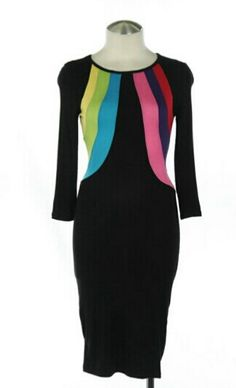 Color Block bodycon dress! Very stylish chic and sexy! Get yours today and dress it up your way!
