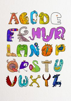 Monster_Alphabet & Numbers  by: Fausto Montanari