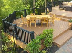 "Concidering a composite deck? Deck building tricks and tips from our ""Outdoor Living Expert"" at Deck and Patio Company Hillside Deck, Deck Over Concrete, Bathroom Remodel Pictures, Rico Design, Diy Deck, Composite Decking, Wooden Decks, Building A Deck, Building Plans"