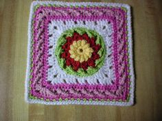 Twisted Garden II Square: free pattern