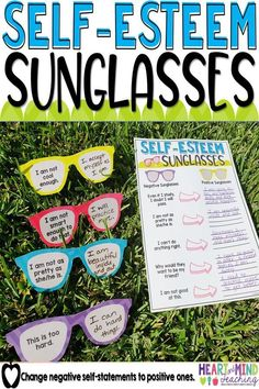 Increase your student's self-confidence and self-esteem by changing their negative self-statements to positive self-statements using this fun activity. Great for small group counseling or class lessons. School counseling must have that addresses ASCA stan Self Esteem Activities, Counseling Activities, Therapy Activities, Group Counseling, Self Esteem Crafts, Anti Bullying Activities, Social Skills Activities, Fun Activities, Elementary School Counseling